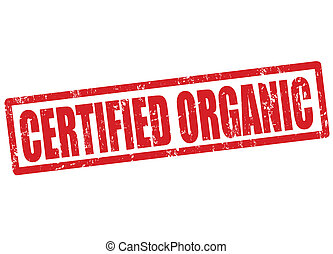 Certified organic stamp