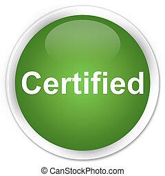 Certified premium soft green round button