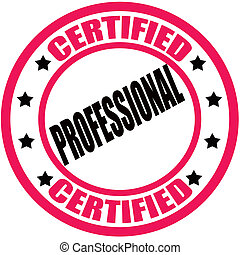 Certified professional - Stamp with text certified...