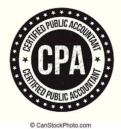 Certified public accountant sign or stamp