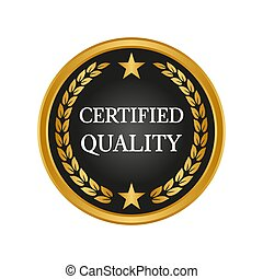 Certified quality badge on white background.