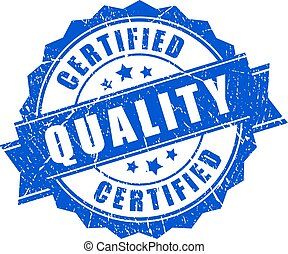 Certified quality vector stamp