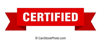 certified ribbon. certified isolated sign. certified banner