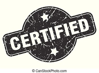 certified round grunge isolated stamp