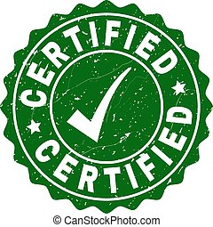 Certified Scratched Stamp with Tick