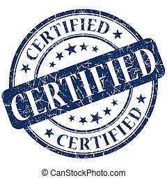 Certified Stamp blue