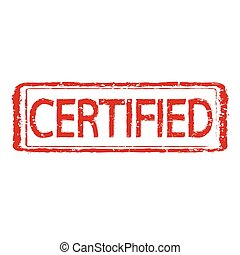 certified stamp text Illustration