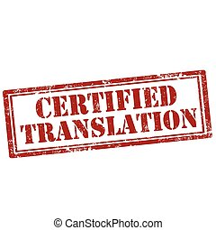 Certified Translation-stamp - Grunge rubber stamp with text ...