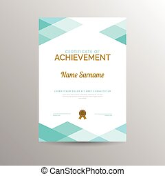 certifikat, achievement, skabelon
