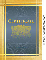 Certifikate blue/gold - Background/model of certificate/...