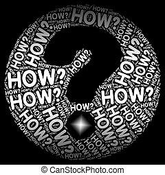 certo, incerteza, marca pergunta, como, não, mostra
