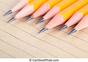 ceruza, és, jegyzetfüzet