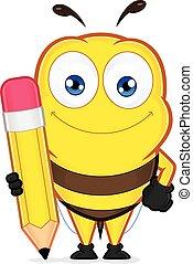 ceruza, birtok, méh