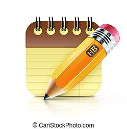 ceruza, kövér, sárga