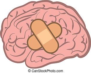 cerveau, bandage