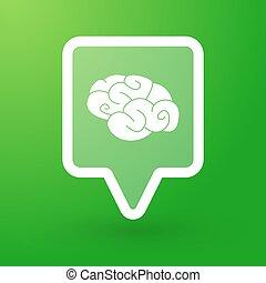 cerveau, carrée, tooltip