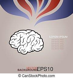 cerveau, concept, humain, créatif