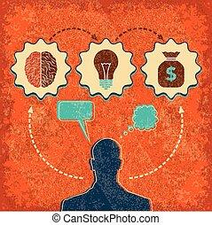 cerveau, concept, idée