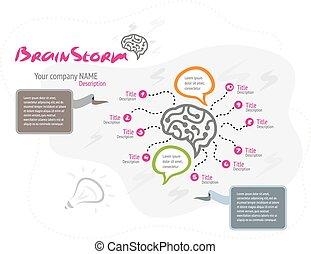 cerveau, concept, idée, fond, créatif