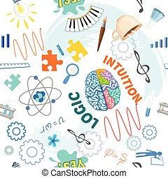 cerveau, créatif, modèle