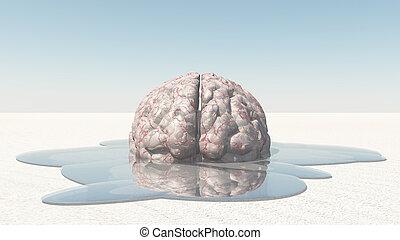 cerveau, fondre