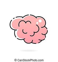 cerveau, hémisphère, droit, humain, gauche