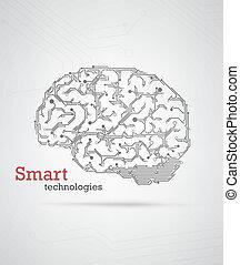 cerveau, high-tech