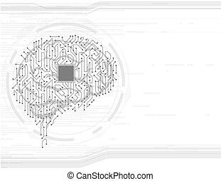 cerveau, humain, ackground