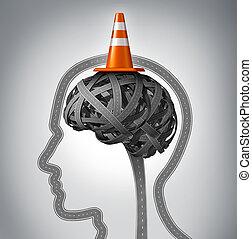 cerveau, humain, réparation