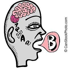 cerveau humain, travail