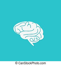 cerveau, icône