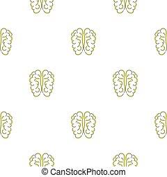 cerveau, icône, seamless, humain, modèle
