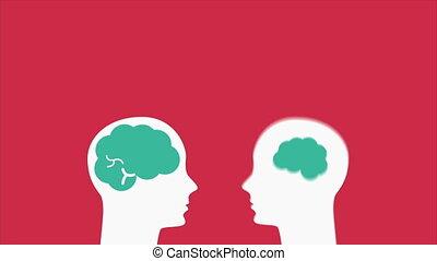 cerveau, idées, illustration