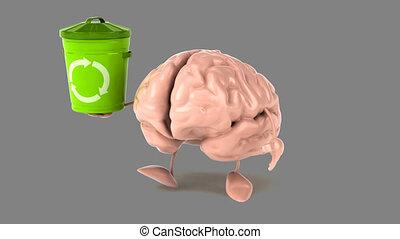 cerveau, informatique, -, animation