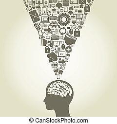 cerveau, informatique