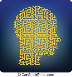 cerveau, labyrinthe