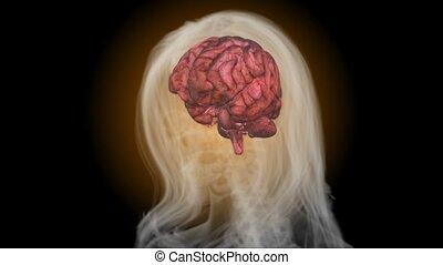 cerveau, mat, rayon x, humain