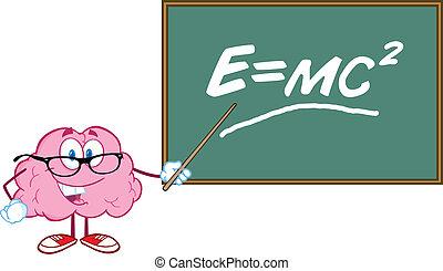 cerveau, prof, formule, einstein