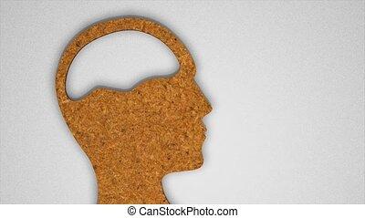 cerveau, puzzle, humain