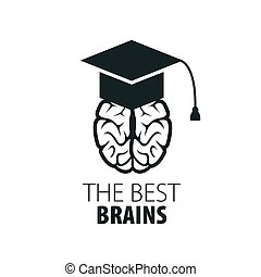 cerveau, vecteur, logo