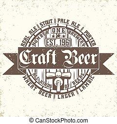 cerveja, arte, emblema