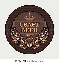 cerveja, arte, etiqueta