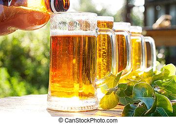cerveja assalta, despeje