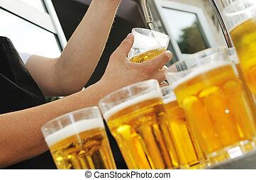 cerveja, bufê