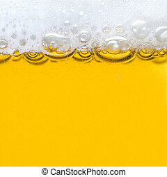 cerveja, com, espuma