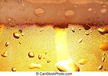 cerveja, com, foam.