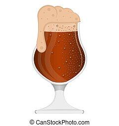 cerveja, espuma, vidro