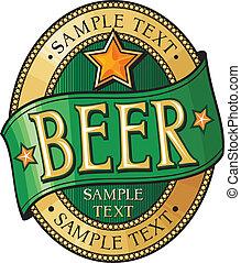 cerveja, etiqueta, desenho