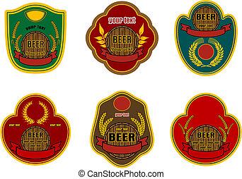 cerveja, etiquetas