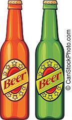 cerveja, garrafas cerveja